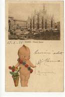 Cartolina Milano Piazza Duomo 1928 Viaggiata Annullo Meccanico - Milano