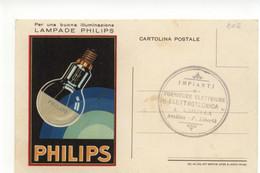 Cartolina Per Una Buona Illuminazione Lampade Philips 1935 Viaggiata - Pubblicitari