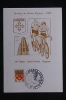 FRANCE - Carte Et Oblitération Temporaire Du Tour De France Cycliste En 1984, étape De Blagnac - L 103640 - 1961-....