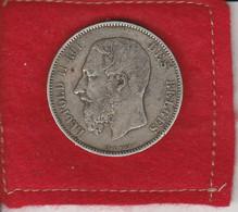 Léopold II Roi  Des  Belges  5 Francs  1873   Veille -  Argent  Jolie Monnaie - 09. 5 Francos