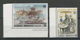 GRECE 1983 N° 1491/1492 ** Neufs MNH Superbes C 4 € Grandes Oeuvres Humaines Acropole Citadelle Archimède Europa - Ongebruikt