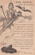 CPA  Patriotique Ave Maria Caricature Satirique Anti Boche Anti Kaïser Guillaume II Pain K.K. Illustrateur   2 Scans - Patriotic
