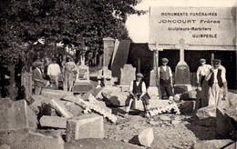 S31-039 Quimperlé - Monuments Funéraires - Joncourt Frères - Sculpteurs-Marbriers - Carte Publicitaire - Quimperlé