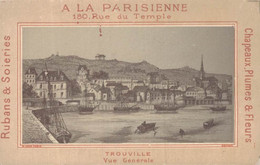 CHROMO A LA PARISIENNE RUBANS SOIERIES A. SCHULLE PARIS TROUVILLE VUE GENERALE - Other