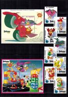 MWD-BK6-368-3-369-1+2 MINT PF/MNH ¤ ST. VINCENT 1992 KOMPL. SET ¤ THE WORLD OF WALT DISNEY - DARKWING  DUCK - Disney