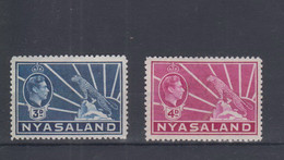 Britisch Nyassaland Michel Cat.No. Mnh/** 60/61 - Nyassaland (1907-1953)