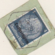Fragment Obl. Marly Moselle (T 220) Le 18/10/40 Sur 4pf Lothringen - Alsace Lorraine
