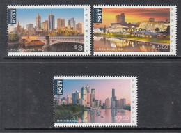 2018 Australia Cities Adelaide Melbourne Brisbane Bridges Definitives Complete Set Of 3 MNH @ Below Face Value - Mint Stamps