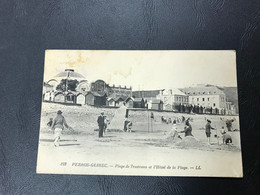 122 - PERROS GUIREC Plage De Trestraou Et L'Hotel De La Plage - Perros-Guirec