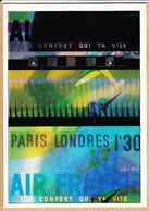 Cppub 120 Affiche DE VALERIO 1936 AIR-FRANCE Le Confort Qui Va Vite PARIS-LONDRES 1H30 REPRODUCTION ATLAS 1992 - Publicité