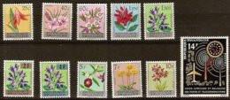 Rwanda 1963 OBC Nr. 13-23 *** MNH Cote 21 € Flore Bloemen Fleurs Flowers + Postes - 1962-69: Neufs