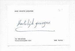 Wielrenner- Coureur Cycliste-Naamkaartje BRIEK SCHOTTE - Ciclismo