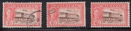 SARAWAK Scott # 189 Used X 3 - KGVI & Kelemantan Rice Barn - Sarawak (...-1963)