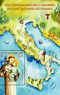 Vatican 2021, 800 Years Since St. Anthony Of Padua Voyage, MNH Unusual S/S - Unused Stamps