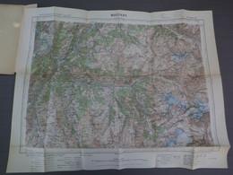 MOÛTIERS - XXXV 33 - CARTE DE FRANCE TYPE 1922 - MINISTERE DE LA GUERRE - SERVICE GEOGRAPHIQUE DE L' ARMEE - 1931 - Mapas Geográficas