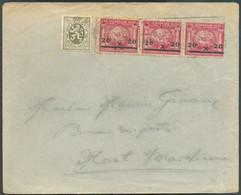 N°185(3)-420 Obl. MécaniqueBRUXELLES (NORD)sur Enveloppe Du 10-III-1931 Vers Mont-sur-Marchienne. -TB - 18532 - Covers & Documents