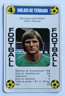 Rare Carte Ancienne 1978 Football Dominique Bathenay Saint Etienne Football France Première Division - Trading Cards