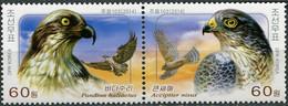 Korea 2014. Birds Of Prey (II) (MNH OG) Block Of 2 Stamps - Korea (Nord-)
