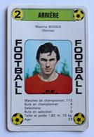 Rare Carte Ancienne 1978 Football Maxime BOSSIS Nantes FCNA Football France Première Division - Trading Cards