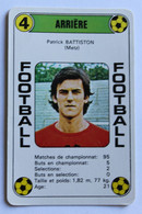 Rare Carte Ancienne 1978 Football Patrick BATTISTON Metz Football France Première Division - Trading Cards