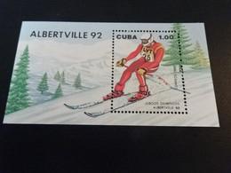 K49053 - Bloc MNh Cuba 1992 - Olympics Albertville - Winter 1992: Albertville