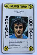 Rare Carte Ancienne 1978 Football Henri Michel Platini NANCY Football France Première Division - Trading Cards