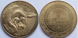 MONEDA Medalla Souvenir FRANCIA (Monnaie De Paris): 2019 Aquarium Biarritz, Bebe Phoque - 2019