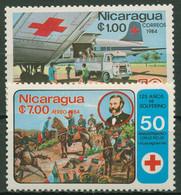 Nicaragua 1984 50 Jahre Rotes Kreuz In Nicaragua 2539/40 Postfrisch - Nicaragua