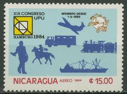 Nicaragua 1984 Weltpostkongress Hamburg 2521 Postfrisch - Nicaragua