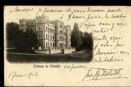 CP ( Château De Floreffe) Obl. BRUXELLES - LUTTRE - NAMUR  01/02/1904 - Ambulants