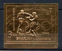 V16  Sharjah Timbre En Or Ou En Argent ** Thématique Olympic Games Mexico 1968   A Saisir !!! - Sharjah