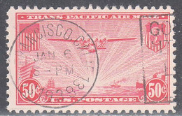 UNITED STATES   SCOTT NO  C22    USED     YEAR  1937   WITH NICE SOCKED ON THE NOSE --SOTN ---CANCEL - 1a. 1918-1940 Used