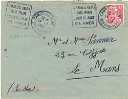 DOUBLE DAGUIN CAMBO LES BAINS Bses PYRENEES Du 14-3-1951 CAMBO (B.P.) / AIR PUR / DOUX CLIMAT / ETE-HIVER - Mechanical Postmarks (Advertisement)