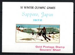 V16  Ajman Timbre En Or Ou En Argent ** Thématique Olymic Games Sapporo 1972   A Saisir !!! - Ajman