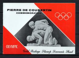 V16  Ajman Timbre En Or Ou En Argent ** Thématique Olymic Games Pierre De Coubertin   A Saisir !!! - Ajman