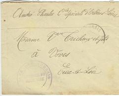 ESC De Fleury-lès-Aubrais (45) Pour Voves (28) - Date Illisible - Commission Militaire - Guerre 14-18 WWI - Oorlog 1914-18