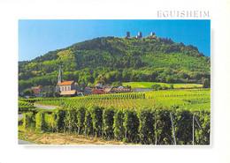 68 - Husseren Les Châteaux - Vue Sur Le Village, Son Vignoble Et Les Trois Château D'Eguisheim - Other Municipalities