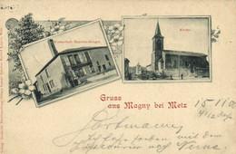 Gruss Aus Magny Bei Metz RV Timbre 5 Cachet Magny - Metz