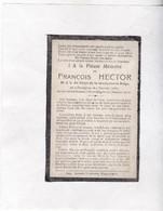 """""""  SOLDAAT GENDARMERIE BELGE  F.HECTOR °OORDEGEM - LEDE  Gevallen 1918 ELVERDINGE - IEPER  ( Rijkswacht ) WOI - Images Religieuses"""