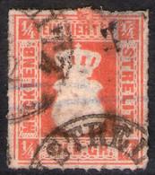 Neustrelitz 4/12 Auf 1/4 Sgr. Rötlichorange- Strelitz Nr. 1 A - Mecklenburg-Strelitz