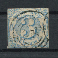 Thurn Und Taxis: 3 Kr. MiNr. 21 1859-1861 Gestempelt / Used / Oblitéré - Thurn Und Taxis