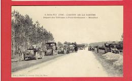 PONT DE GENNES MONTFORT 1906 CIRCUIT DE LA SARTHE DEPART DES TRIBUNES AUTOMOBILES CARTE EN TRES BON ETAT - Autres Communes