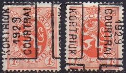 4958 A/B KORTRIJK 1929 COURTRAI - Roller Precancels 1920-29