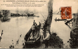 TRES RARE CATASTROPHE DE MONTREUIL BELLAY TRAIN D ANGERS A POITIERS - Montreuil Bellay