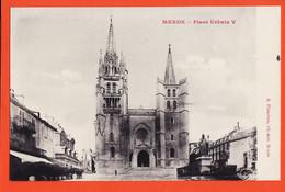 X48155 ⭐ ( Etat Parfait ) MENDE 48-Lozere Place URBAIN V 1910s PLANCHON Libraire Editeur - Mende