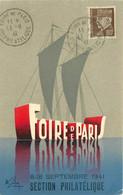 FOIRE DE PARIS 1941 SECTION PHILATHELIQUE - 1921-1960: Periodo Moderno