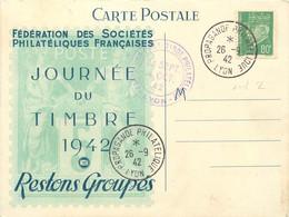 JOURNEE DU TIMBRE 1942 PROPAGANDE PHILATHELIQUE - 1921-1960: Modern Period