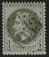 Napoléon Lauré N°25, Oblitéré GC 1053 Clermont-Ferrand (Puy-de-Dôme). - 1863-1870 Napoleone III Con Gli Allori