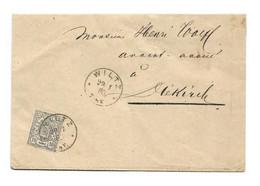 N°30 - 10 Centime Gris Obl. Sc De WILTZ *sur Lettre Du 29-1 1881 Vers Diekirch. Luxe - W1272 - 1859-1880 Wapenschild
