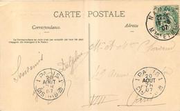 Cachet NANCY  1907 AVEC PARIS DISTRIBUTION - 1877-1920: Semi-Moderne